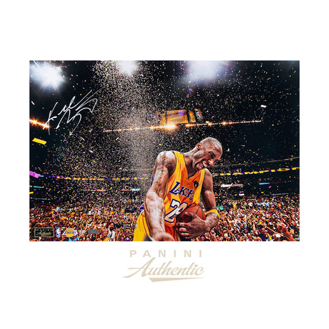 "Kobe Bryant Autographed 16x24 ""Champion"" Photograph - Limited Edition to 124-Cherry Collectables"