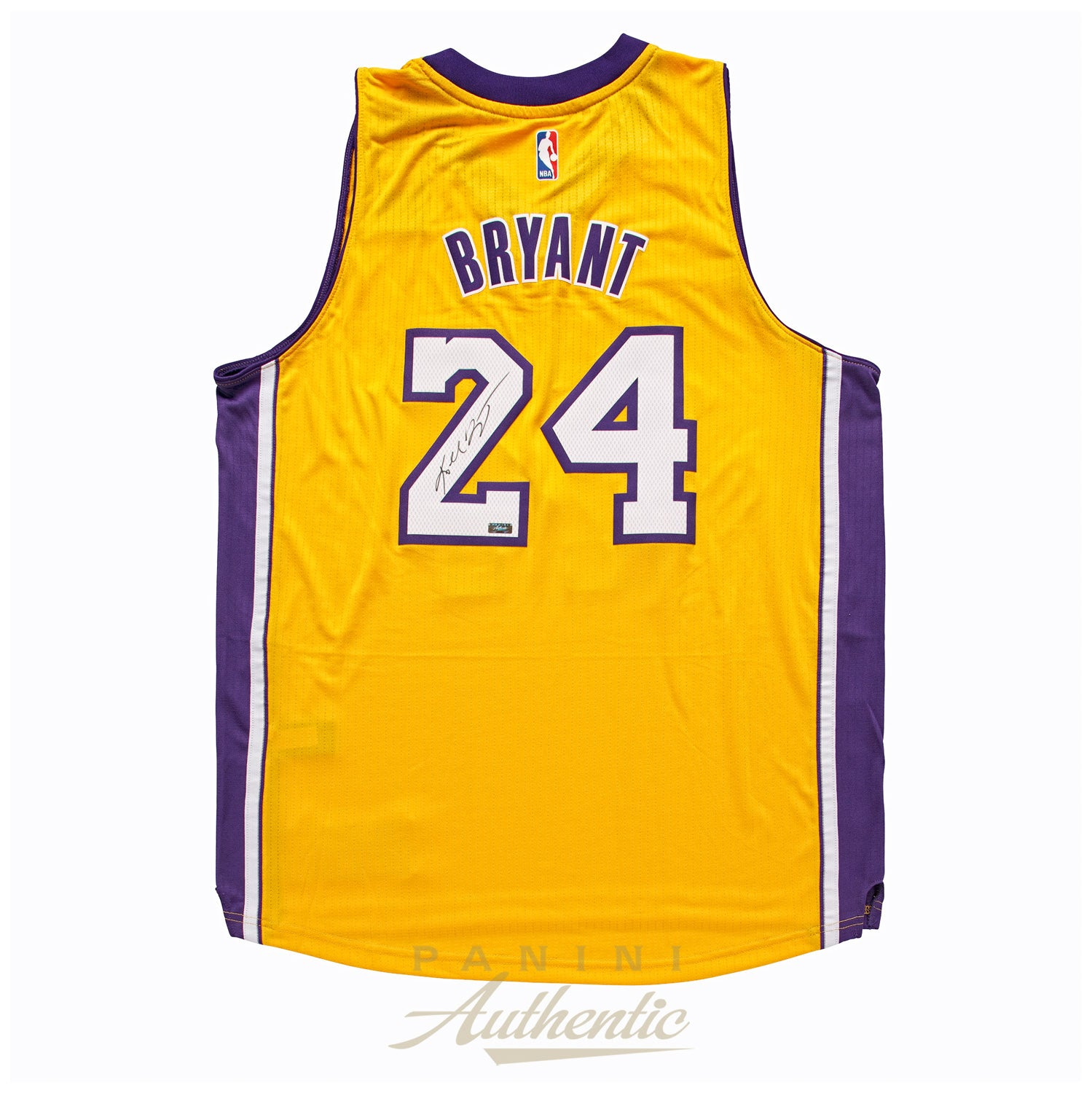 eebd22afaf3 Tap or pinch to zoom. Kobe Bryant Panini Authentic Autographed Gold Adidas  Swingman Jersey-Cherry Collectables