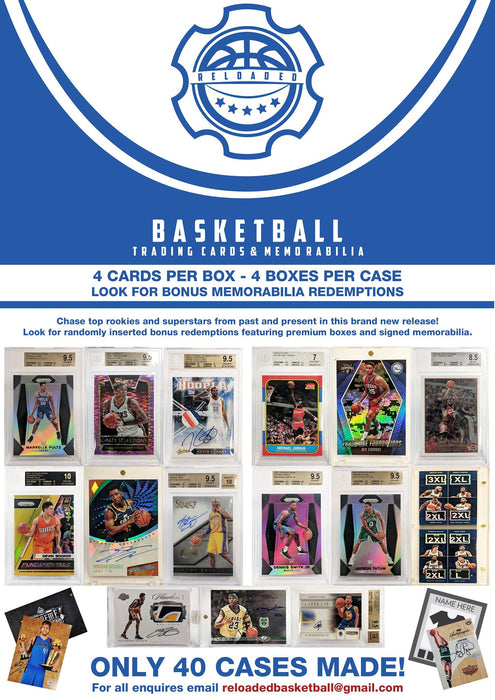 2018 Reloaded Basketball - Trading Card & Memorabilia Mystery Box-Cherry Collectables