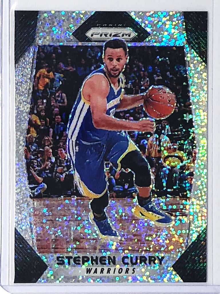 17-18 Prizm STEPHEN CURRY White Sparkle SSP-Cherry Collectables