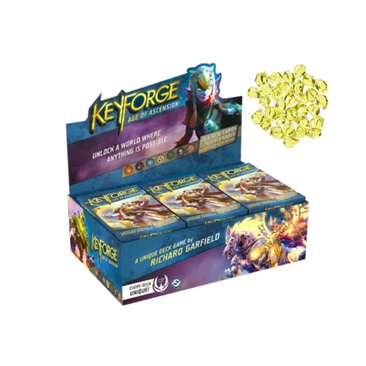 KEYFORGE Age of Ascension 12-Deck Display Box + Bonus Crystal Tokens (Pre Order May)-Cherry Collectables