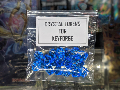 BLUE Crystal Tokens for Keyforge-Cherry Collectables
