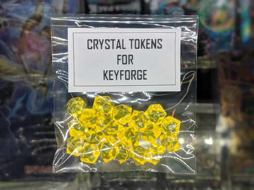 YELLOW Crystal Tokens for Keyforge-Cherry Collectables