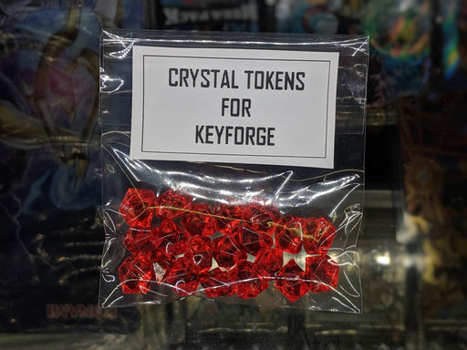 RED Crystal Tokens for Keyforge-Cherry Collectables