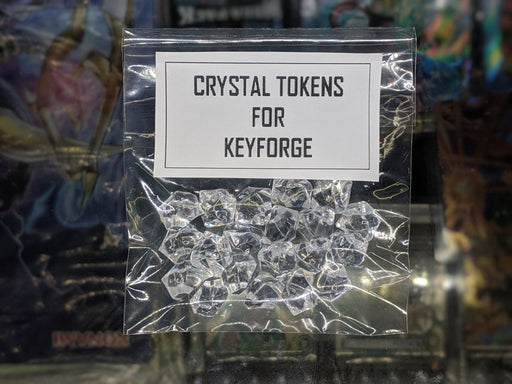 CLEAR Crystal Tokens for Keyforge-Cherry Collectables