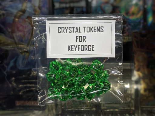 GREEN Crystal Tokens for Keyforge-Cherry Collectables