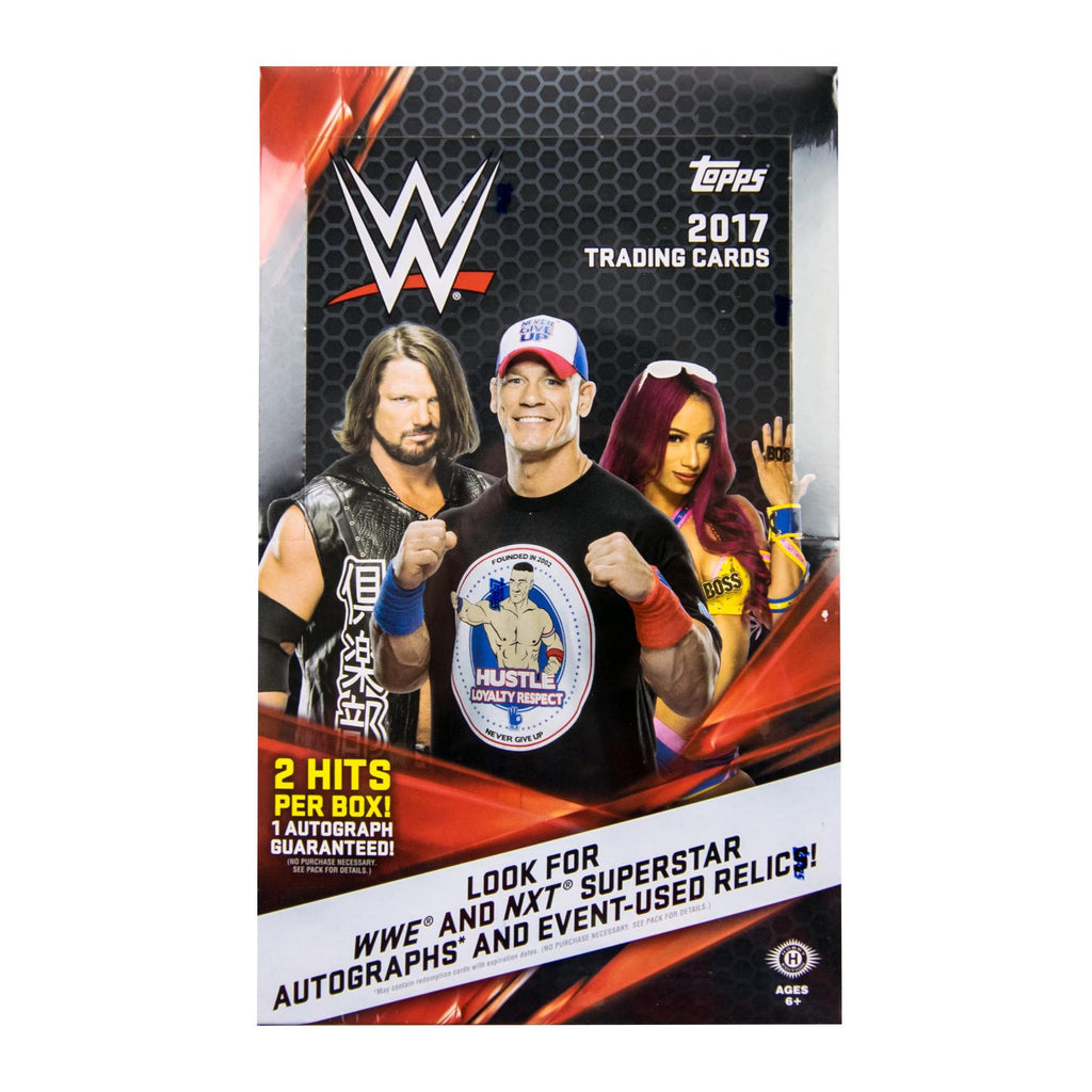 2017 Topps WWE Wrestling Hobby Box-Cherry Collectables