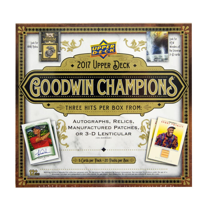 2017 Upper Deck Goodwin Champions Hobby Pack-Cherry Collectables