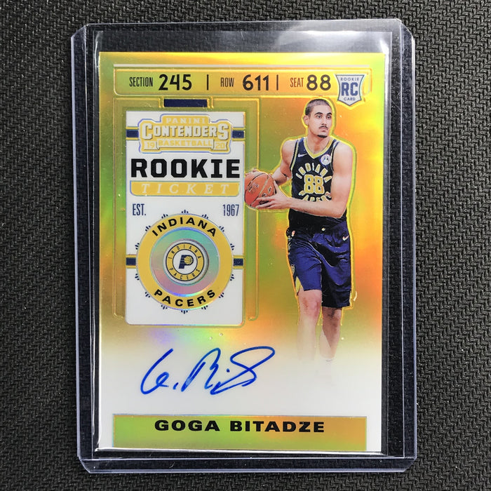 2019-20 Contenders GOGA BITADZE Rookie Ticket Gold Premium Auto 5/10-Cherry Collectables