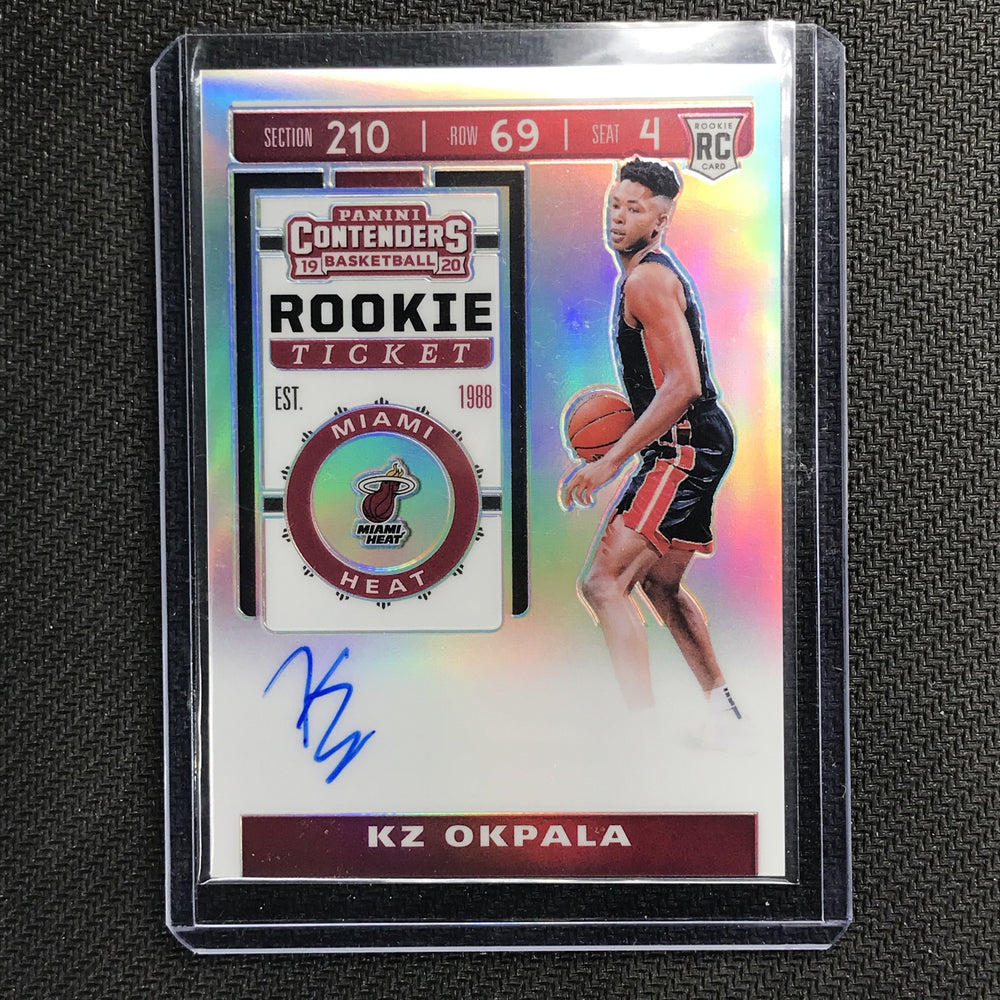 2019-20 Contenders KZ OKPALA Rookie Ticket Premium Auto #121 2-Cherry Collectables