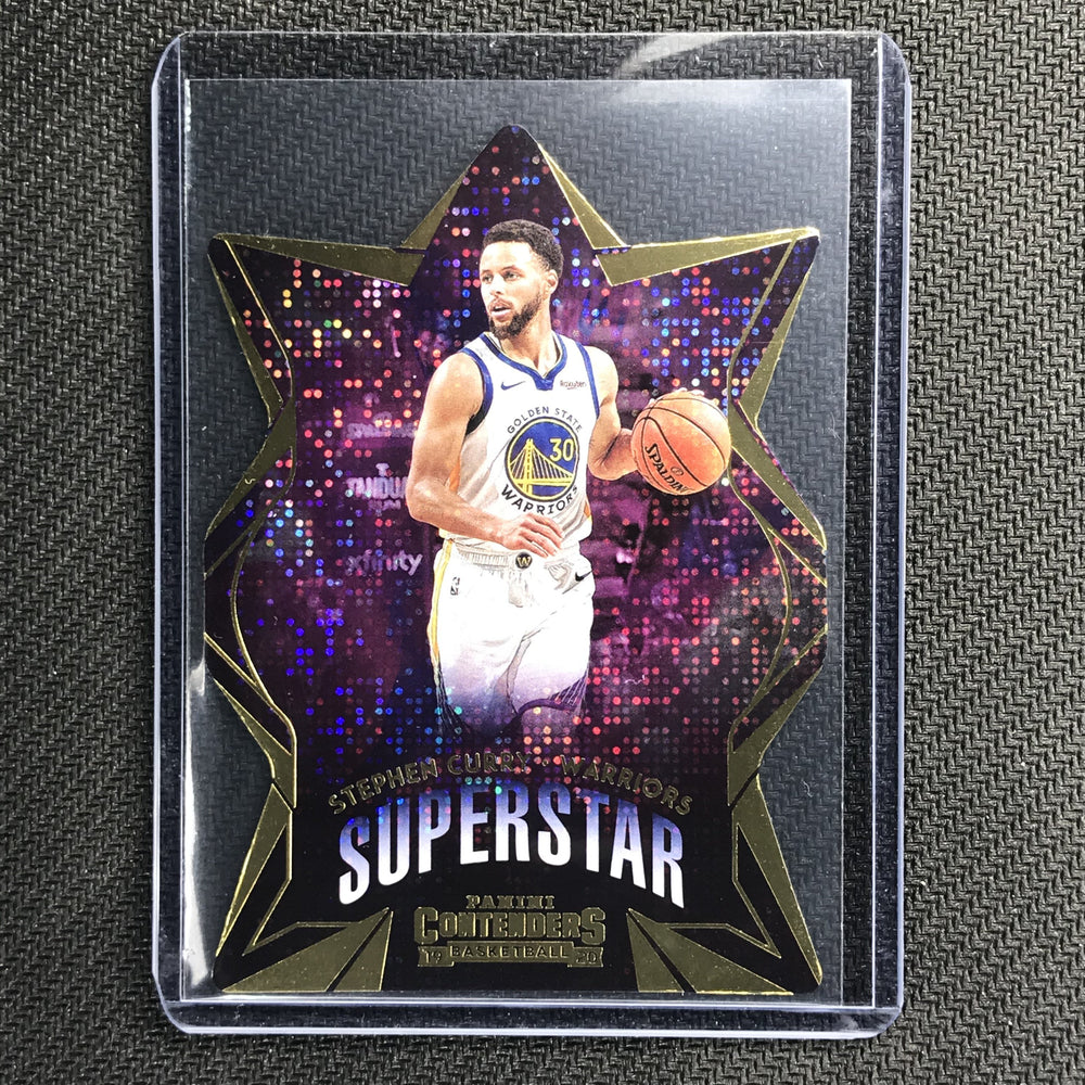 2019-20 Contenders STEPHEN CURRY Superstar Diecut #3-Cherry Collectables
