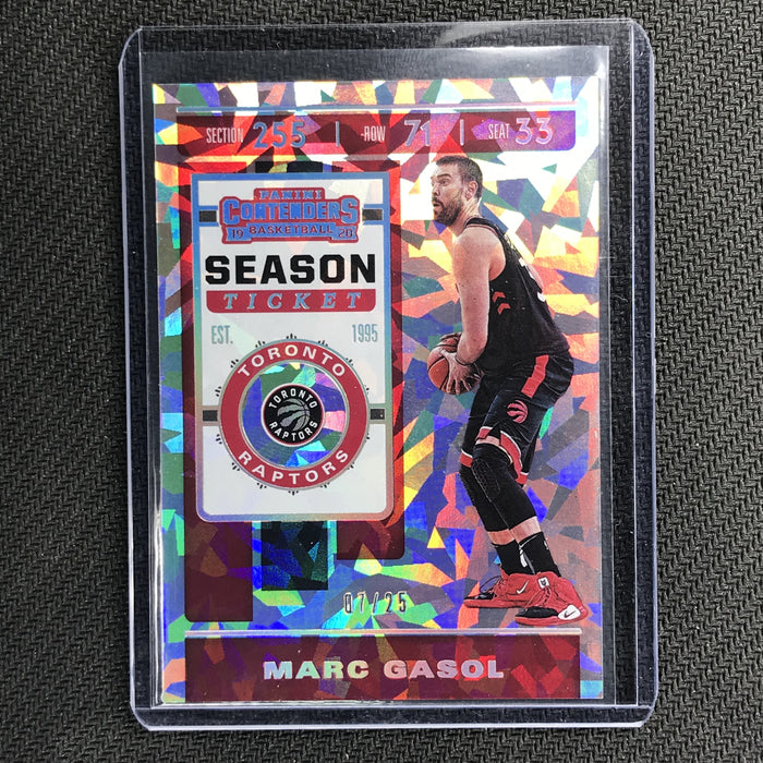 2019-20 Contenders MARC GASOL Season Ticket Cracked Ice 7/25-Cherry Collectables