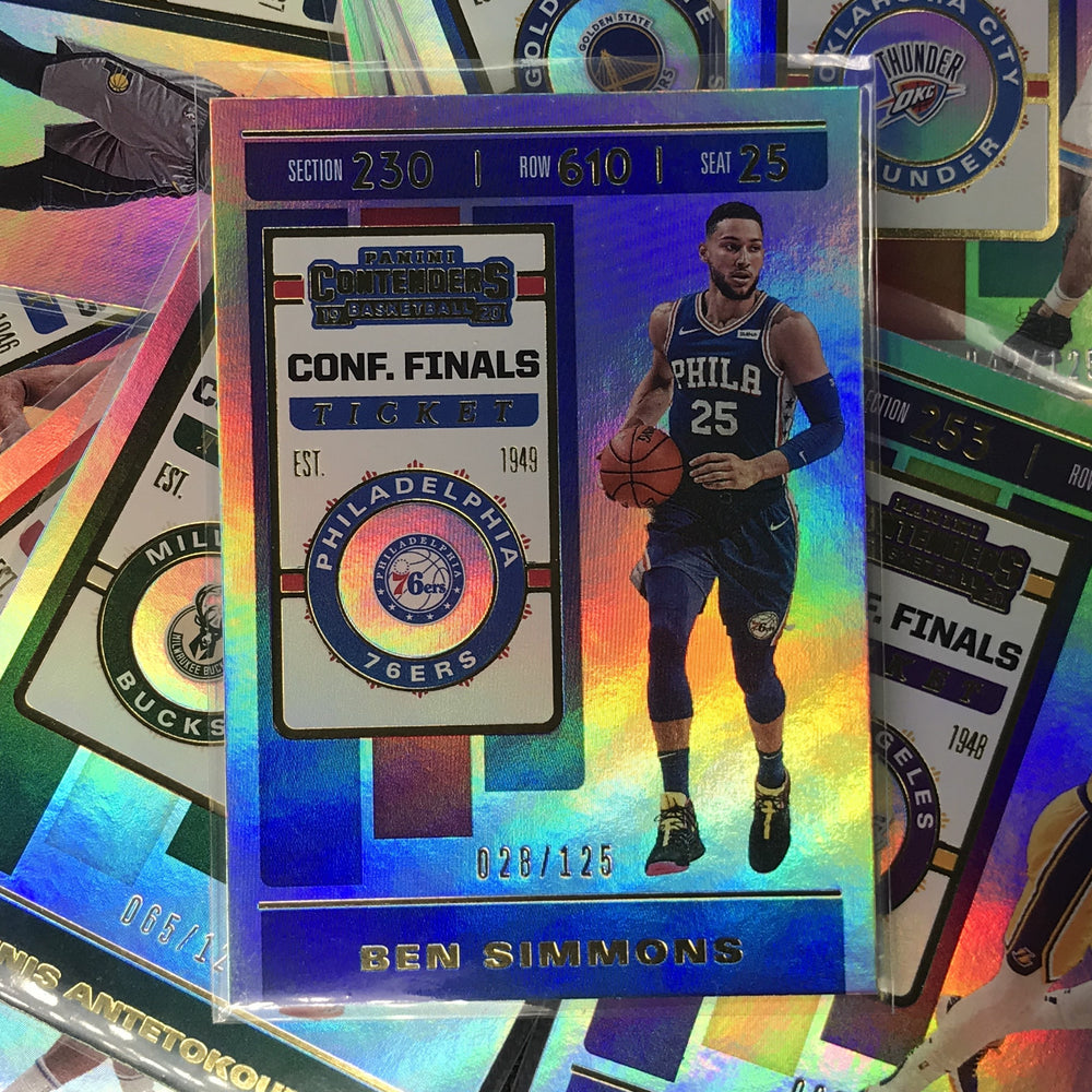 2019-20 Contenders ALLONZO TRIER Conf Finals Ticket 9/125-Cherry Collectables