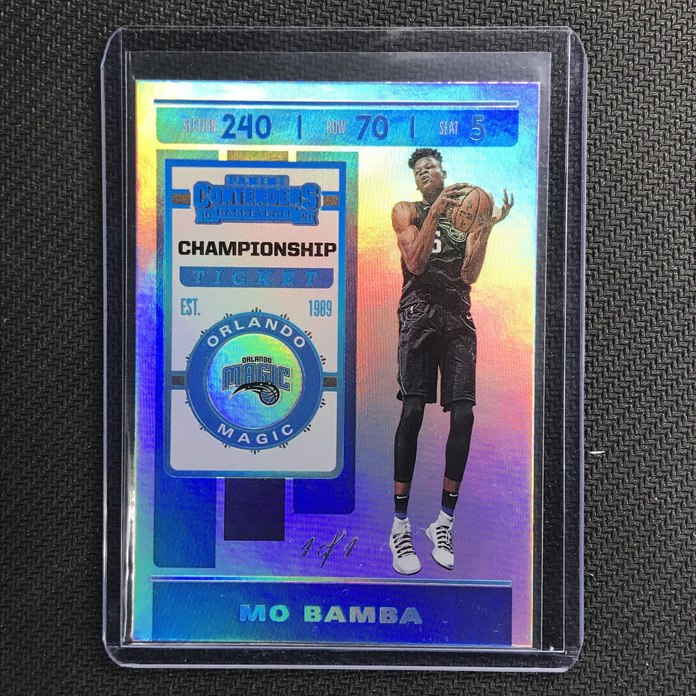 2019-20 Contenders MO BAMBA Championship Ticket Platinum 1/1-Cherry Collectables