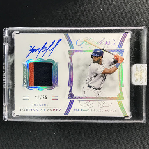 2020 Flawless YORDAN ALVAREZ Milestones Patch Auto 23/25-Cherry Collectables