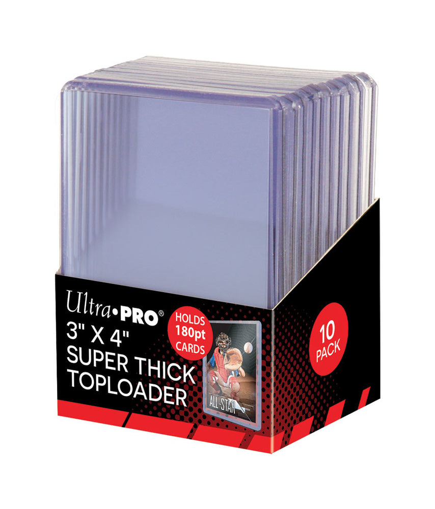 Ultra Pro 3x4 Super Thick 180pt Toploaders-Cherry Collectables