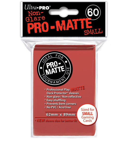 Ultra PRO - Red Small - Pro-Matte Deck Protector® Sleeves 60ct-Cherry Collectables