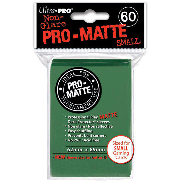 Ultra PRO - Green Small - Pro-Matte Deck Protector® Sleeves 60ct-Cherry Collectables