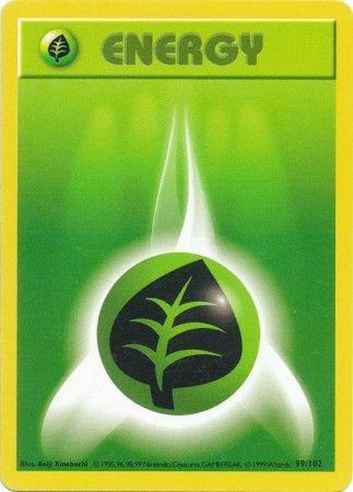 Grass Energy - 99/102 - Common Shadowless-Cherry Collectables