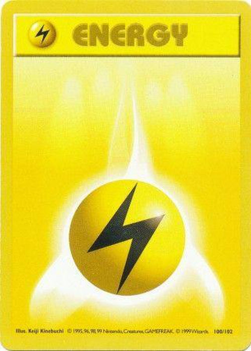 Lightning Energy - 100/102 - Common Shadowless-Cherry Collectables