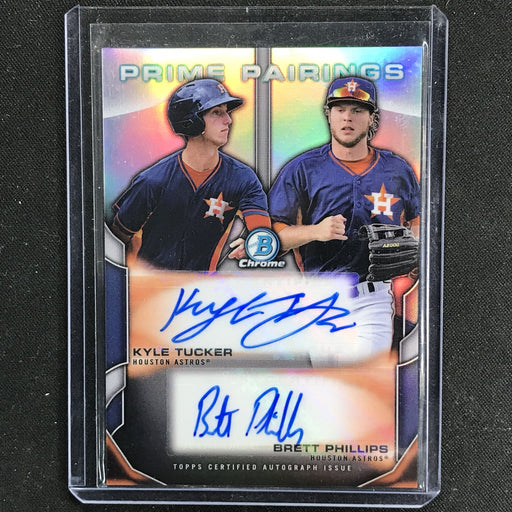 2015 Bowman Chrome KYLE TUCKER BRETT PHILLIPS Rookie Pairings Dual Auto 21/25-Cherry Collectables