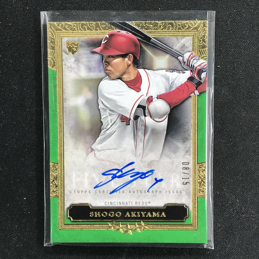 2020 Five Star SHOGO AKIYAMA Rookie Auto Green 8/15-Cherry Collectables