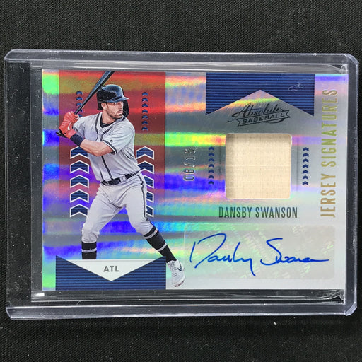 2020 Absolute DANSBY SWANSON Jersey Signatures Red 8/15-Cherry Collectables