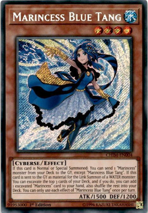 Marincess Blue Tang - CHIM-EN004 - Secret Rare 1st Edition-Cherry Collectables