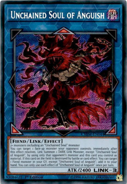Unchained Soul of Anguish - CHIM-EN044 - Secret Rare 1st Edition-Cherry Collectables