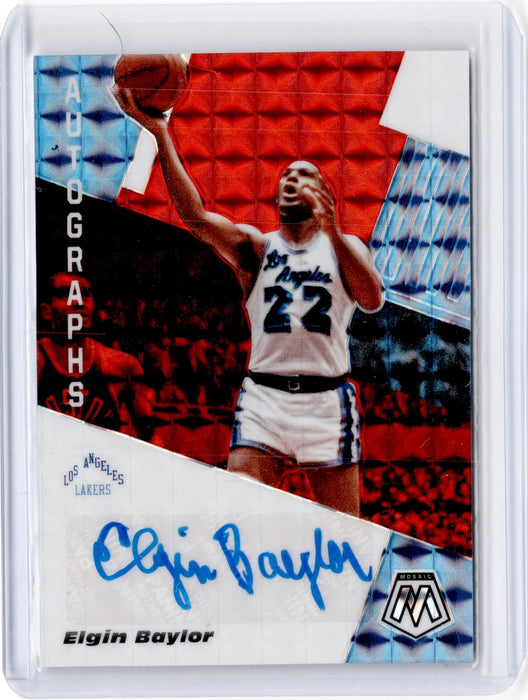 2019-20 Mosaic ELGIN BAYLOR Red Choice Auto AM-EBL #2-Cherry Collectables