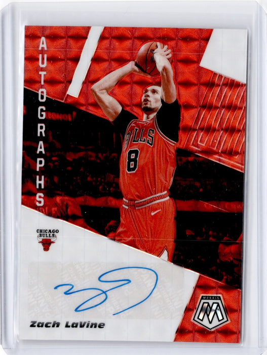 2019-20 Mosaic ZACH LAVINE Red Choice Auto AM-ZLV-Cherry Collectables