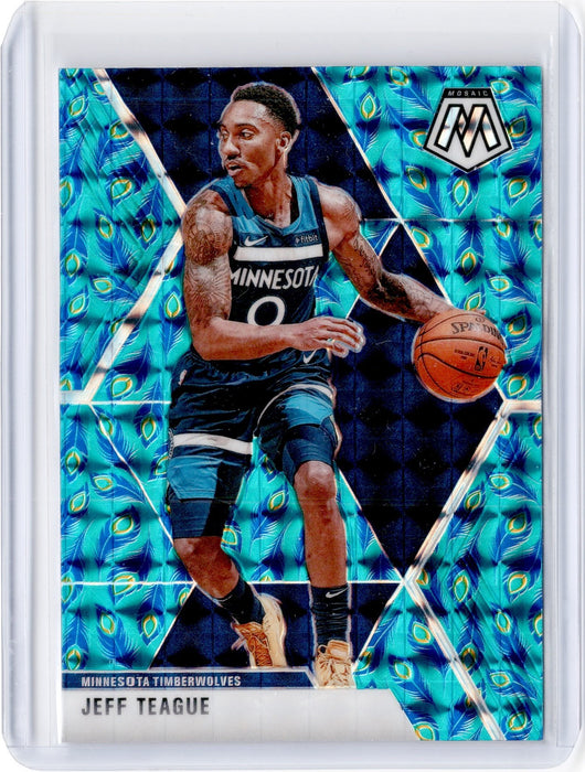 2019-20 Mosaic JEFF TEAGUE Peacock Choice Prizm SSP #98-Cherry Collectables