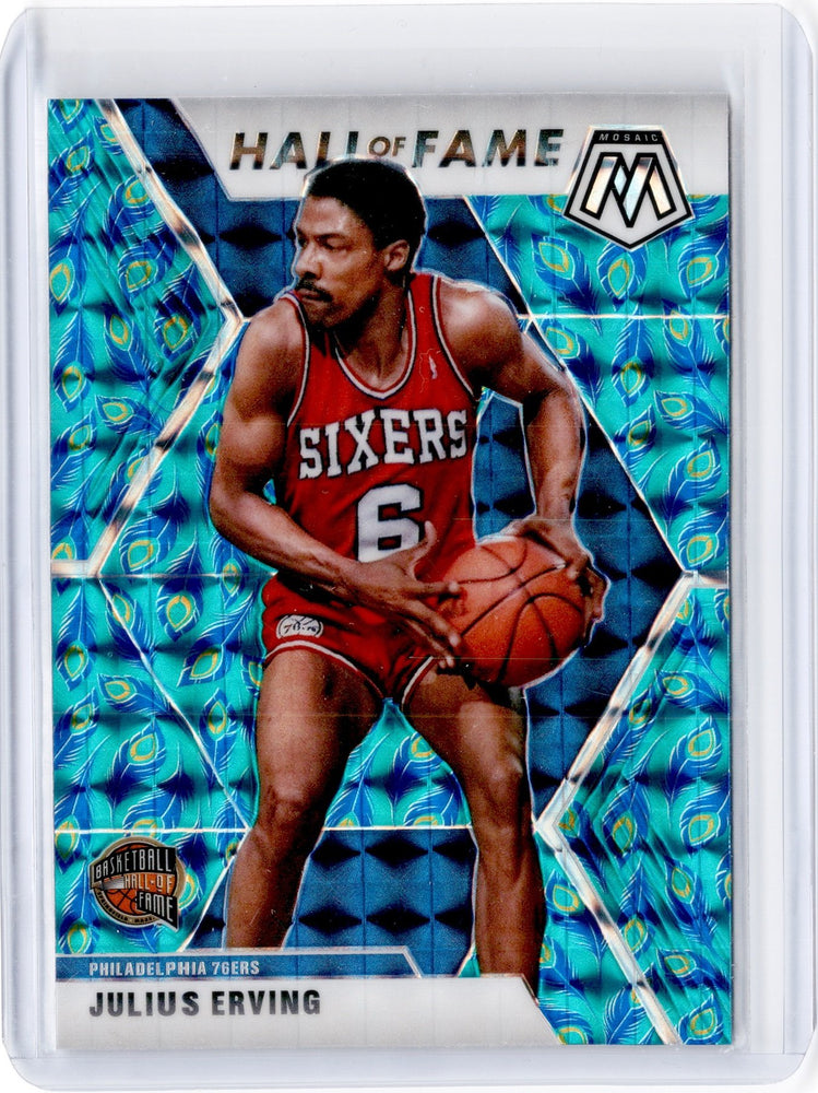 2019-20 Mosaic JULIUS ERVING Hall Of Fame Peacock Choice Prizm SSP #288-Cherry Collectables