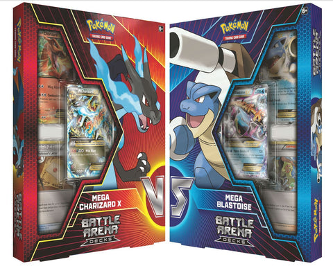 Pokemon Battle Arena Deck - Mega Charizard & Mega Blastoise Combo (Pre Order Sep)-Cherry Collectables