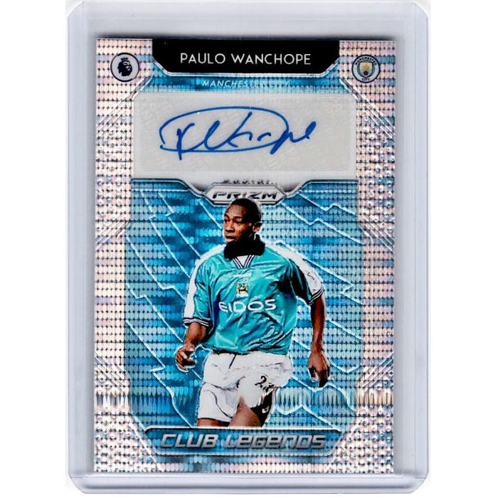 2019-20 Prizm EPL Breakaway Soccer PAULO WANCHOPE Club Legends Auto 41/100-Cherry Collectables