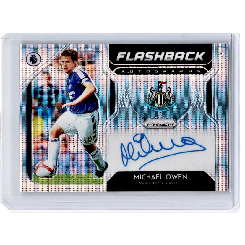 2019-20 Prizm EPL Breakaway Soccer MICAHEL OWEN Flashback Auto 28/100-Cherry Collectables