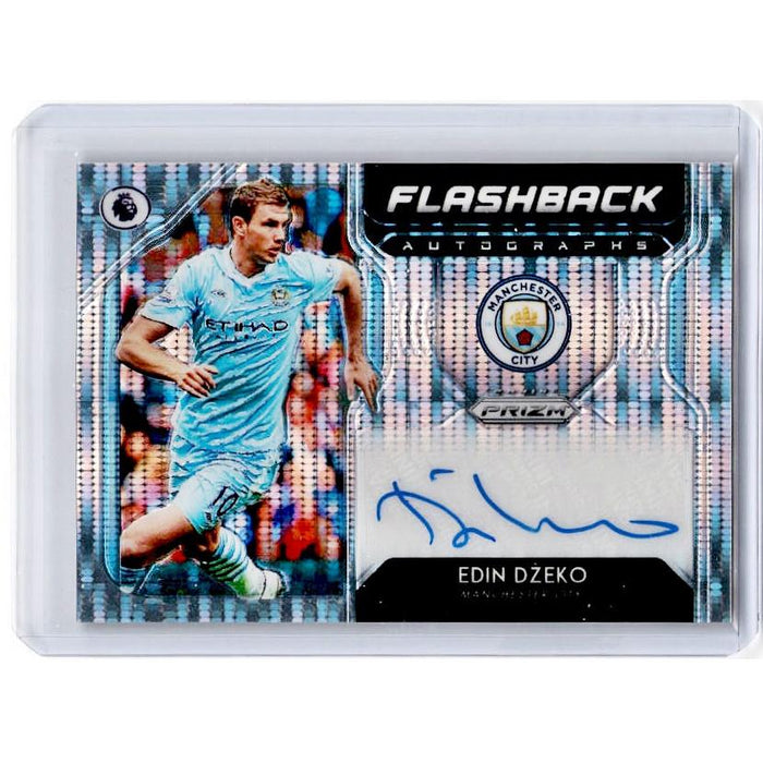 2019-20 Prizm EPL Breakaway Soccer EDIN DZEKO Flashback Auto 27/100-Cherry Collectables