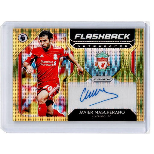 2019-20 Prizm EPL Breakaway Soccer JAVIER MASCHERANO Flashback Auto Gold 9/10-Cherry Collectables
