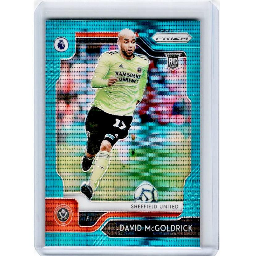 2019-20 Prizm EPL Breakaway Soccer DAVID MCGOLDRICK Rookie Teal Prizm 13/35-Cherry Collectables