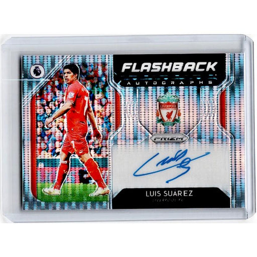 2019-20 Prizm EPL Breakaway Soccer LUIS SUAREZ Flashback Auto 2/5-Cherry Collectables