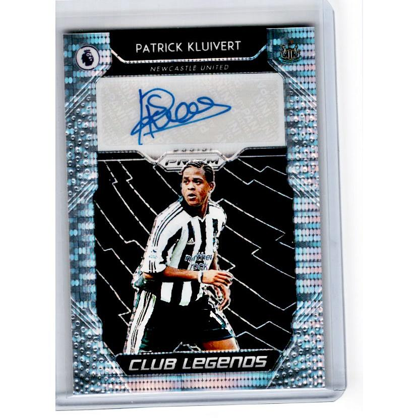 2019-20 Prizm EPL Breakaway Soccer PATRICK KLUIVERT Club Legends Auto 27/100-Cherry Collectables