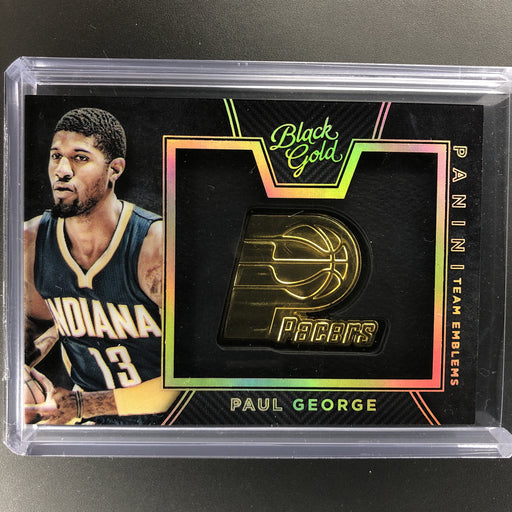 2015-16 Black Gold PAUL GEORGE Team Emblems Case Hit SSP #20-Cherry Collectables