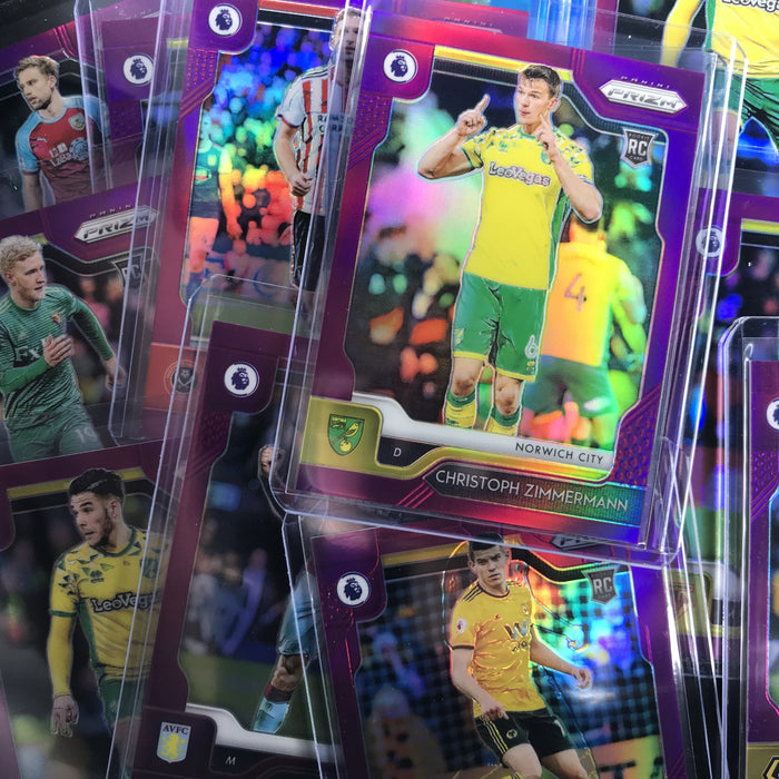 2019-20 Prizm EPL Soccer CHRISTOPH ZIMMERMANN Purple Rookie Prizm 14/99-Cherry Collectables