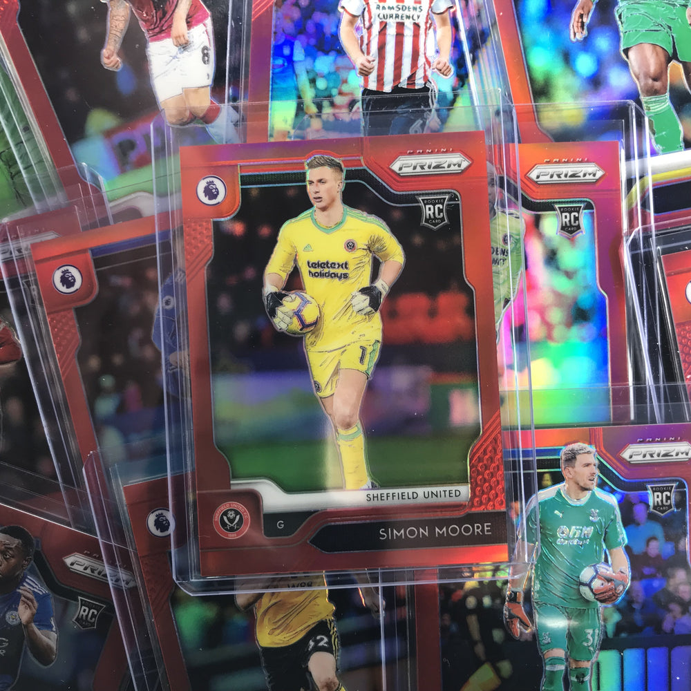 2019-20 Prizm EPL Soccer MAX AARONS Red Rookie Prizm 47/149-Cherry Collectables