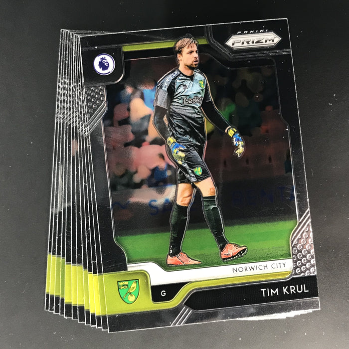 2019-20 Prizm EPL Soccer NORWICH CITY Team Set - All Base Cards #277-288-Cherry Collectables