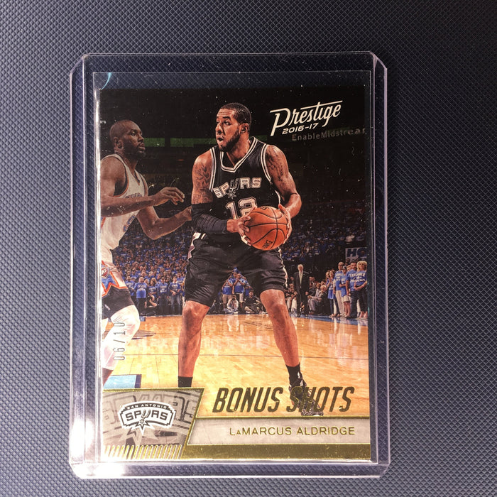 16-17 Prestige LAMARCUS ALDRIDGE Bonus Shots #122 6/10-Cherry Collectables