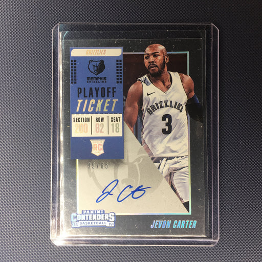 18-19 Contenders JEVON CARTER RC Playoff Ticket Auto /65-Cherry Collectables