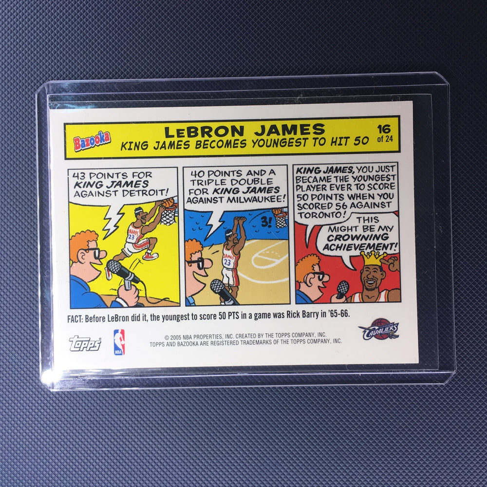 04-05 Topps Bazooka LEBRON JAMES Cartoon Magnet 16 of 24-Cherry Collectables