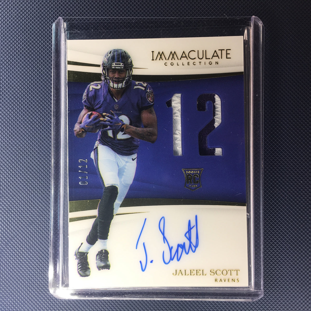 promo code 73a27 ee4ee 2018 Immaculate JALEEL SCOTT RC Rookie Jersey Number Patch Auto /12