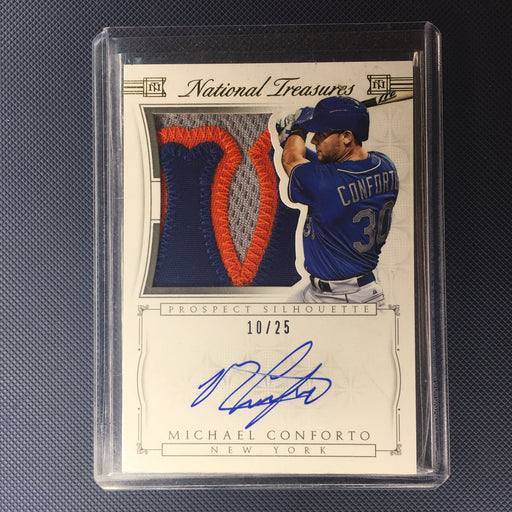2015 National Treasures MICHAEL CONFORTO Prospect Silhouette Prime Patch Auto /25-Cherry Collectables